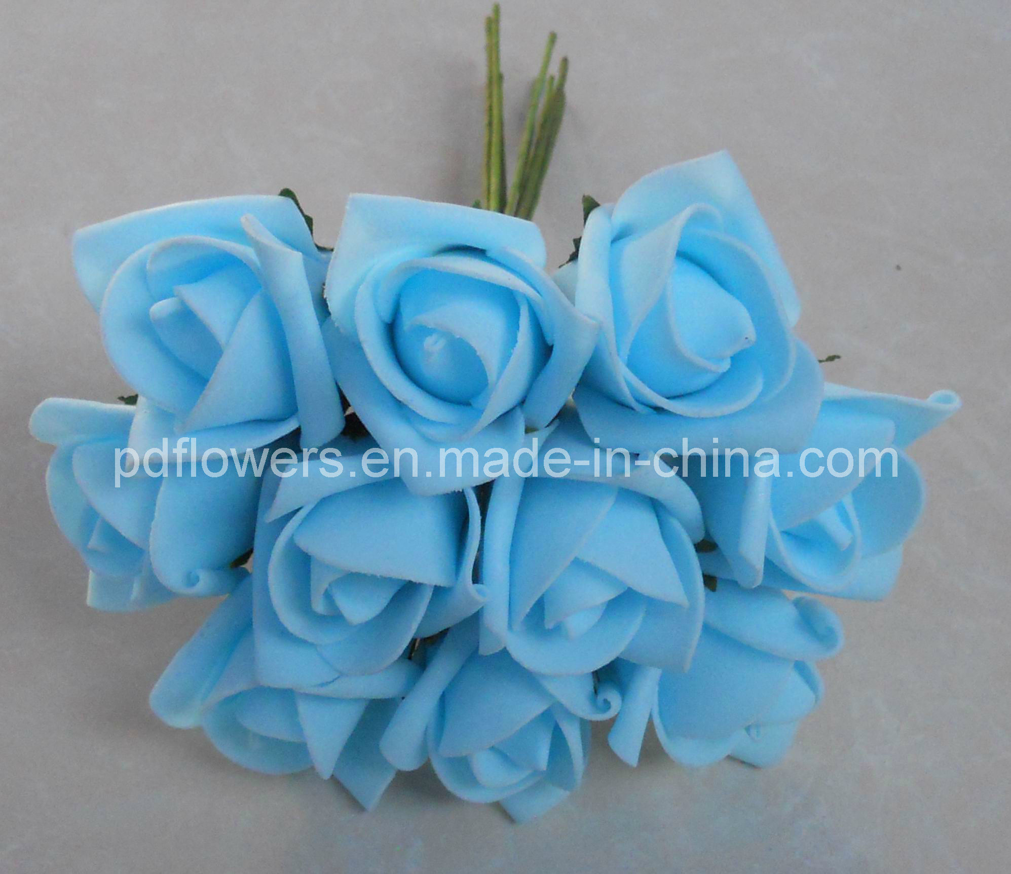 China Artificial Flower Foam Roses China Rose Bouquet Wedding Flowers