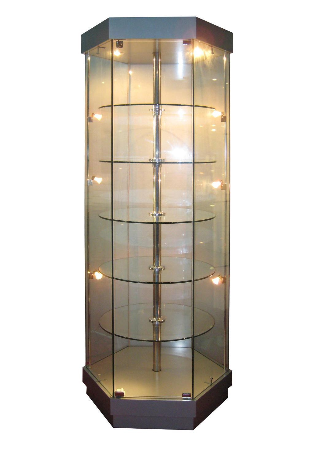 Glass Display Cabinet Showcases: China Glass Display Case (FD-B332)