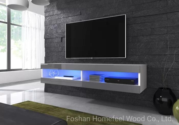 Led Mdf Living Room Furniture Tv Stand Cabinet Wall Unit Design Hf Tvs12 China Led Tv Stand Living Room Furniture Made In China Com