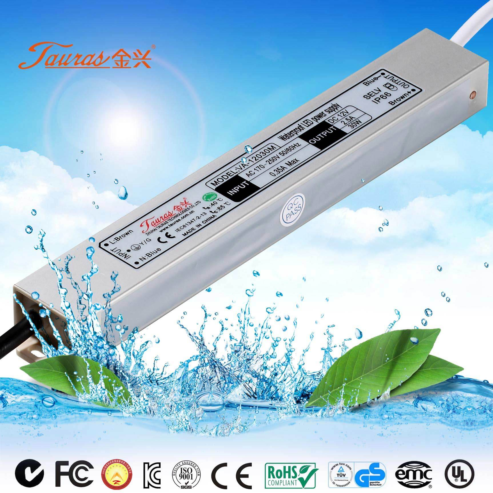 China 30w 12v Constant Voltage Led Driver Va 12030m Switch For Or 24v Dc 96w Lights Specifications Power Supply Waterproof