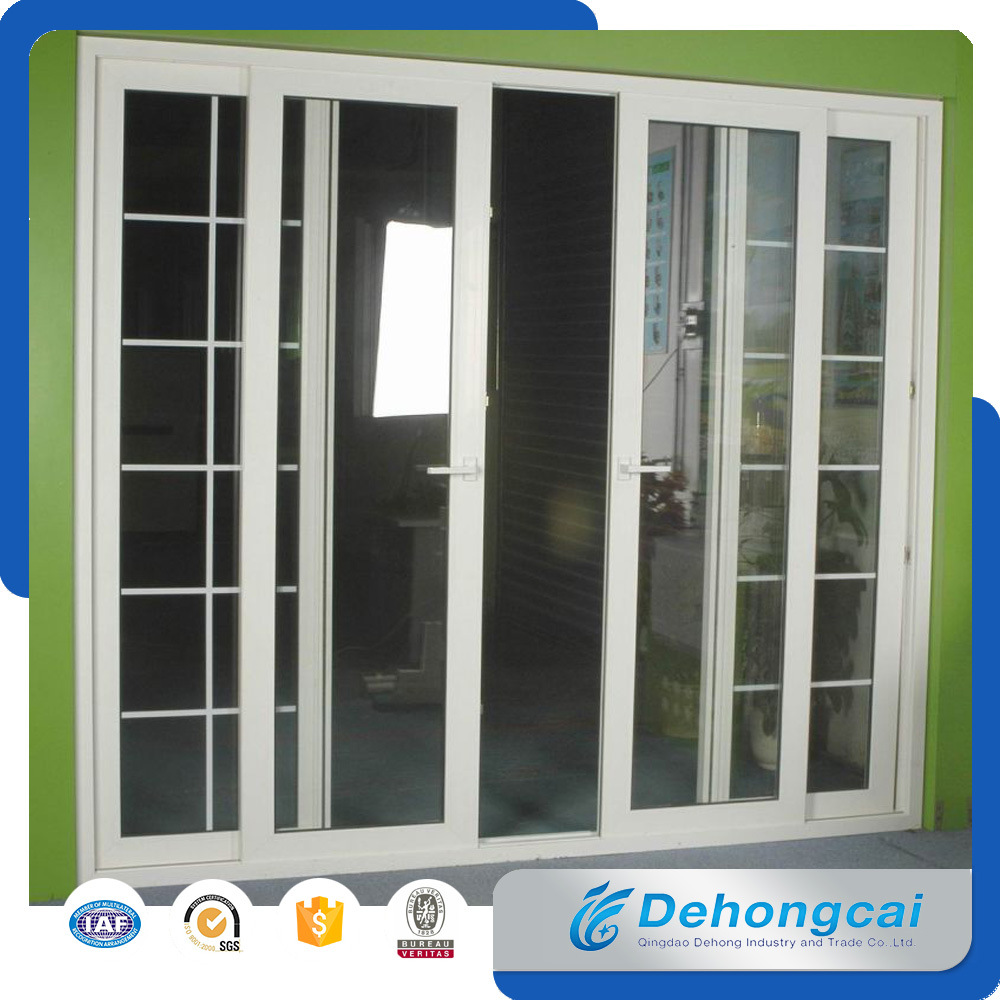 China Heat Insulation Interior Pvc Door With Double Glass China