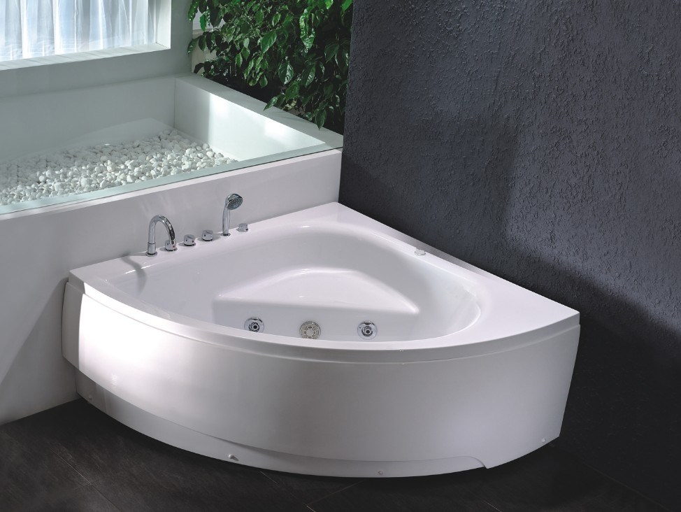 China Small Size Triangle Indoor Corner Massage Bath Tub - China ...