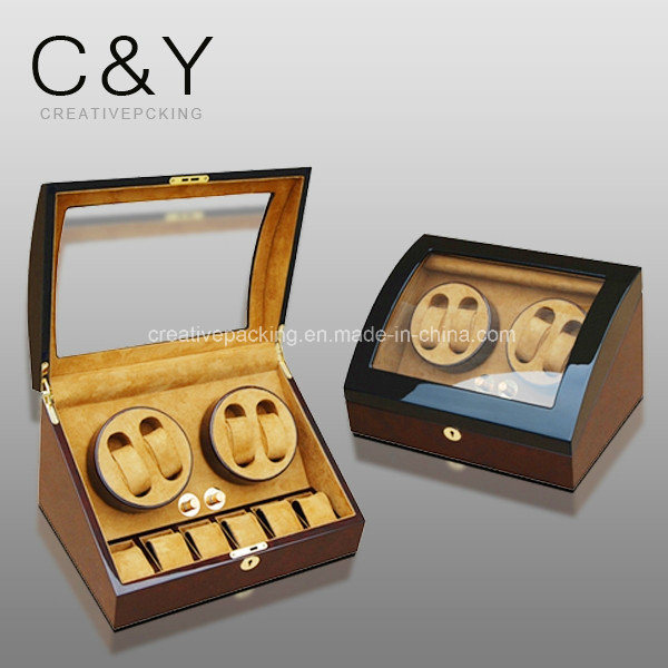 4+6 Watch Storage Piano Finish Lacquer Wooden Automatic Watch Winder pictures & photos
