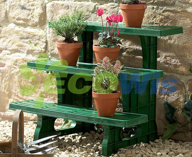 China Garden Indoor Outdoor Flower Pots Stand 3 Tier Metal Corner Potted Plant Shelf