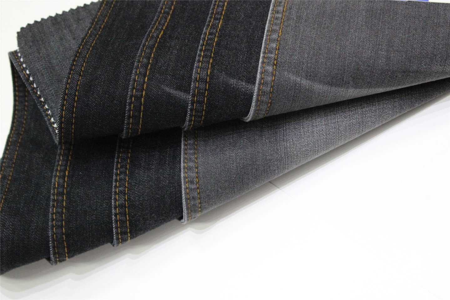 Cotton Polyester Rayon Black Denim