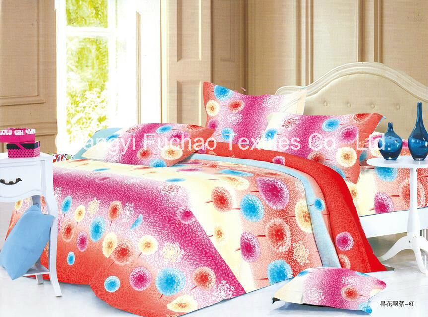 Made in China 100% Polyester Microfiber Printed Bedding Set Used for Home or Hotel pictures & photos