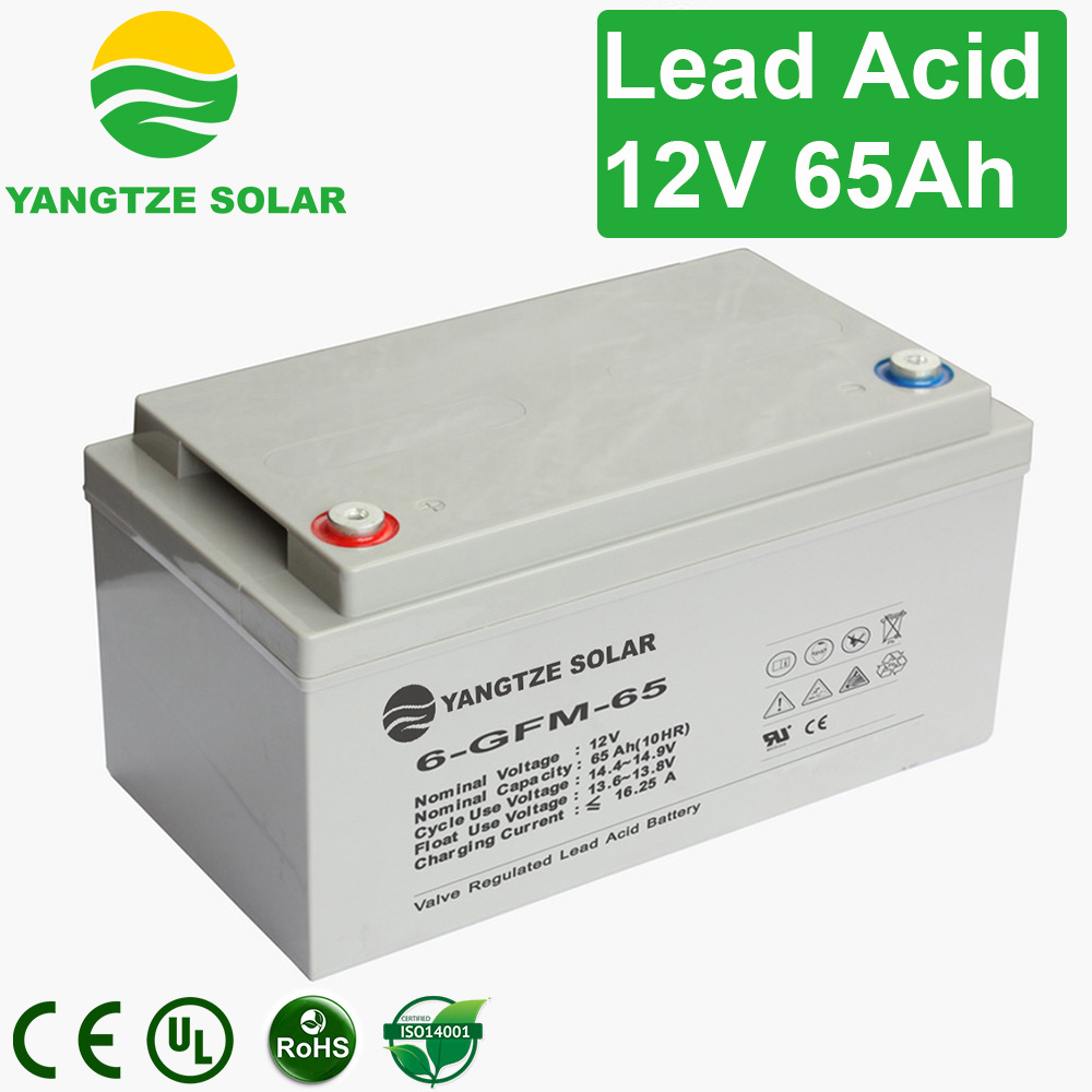 Rechargeable Sealed 65ah 12V Lead Acid Battery for Telecom/UPS/Solar System