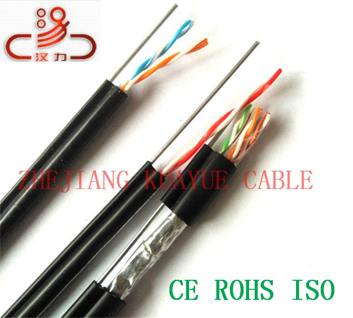 500/' Cat-5E Outdoor Shielded Aerial Self Supporting With Messenger Cable Wire