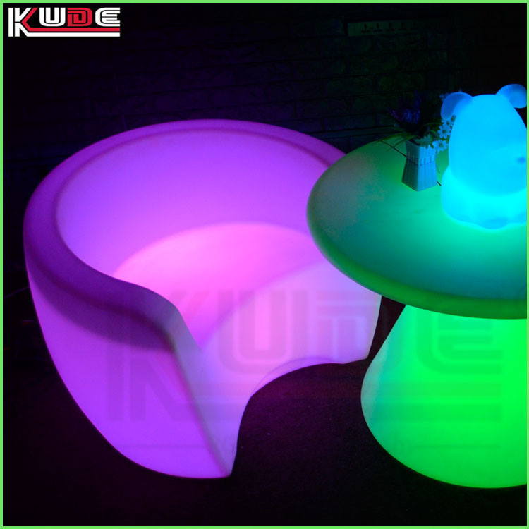 Glowing Garden Furniture Color Changeable LED Suite Sofa