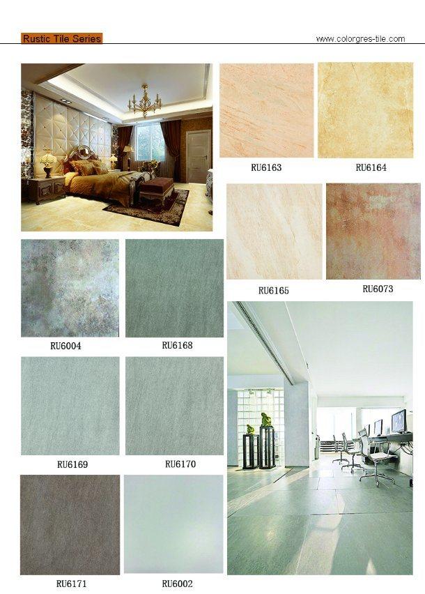 China Rustic Orient Bathroom Design Ceramic Non Slip Bathroom Floor