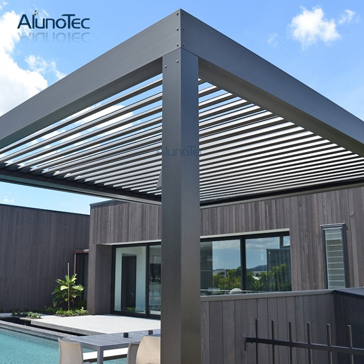 China Waterproof Louvre Roof System Pergola Louver Roof