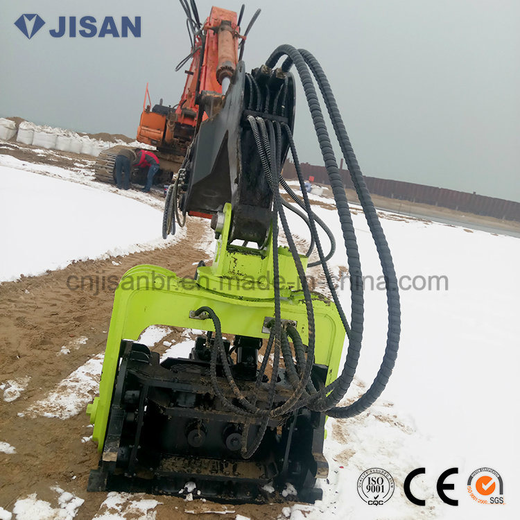 [Hot Item] Excavator Mounted Hydraulic Sheet Pile Driver Vibro Hammer for  Concrete Piles