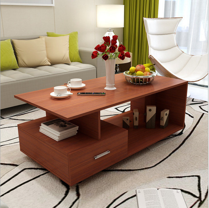 Hot Item Living Room Furniture Melamine Particle Board Coffee Table Tea