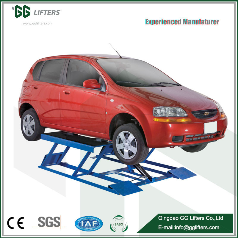 China Hydraulic Rams Two Platforms Low Ceiling Car Lift Ultrathin