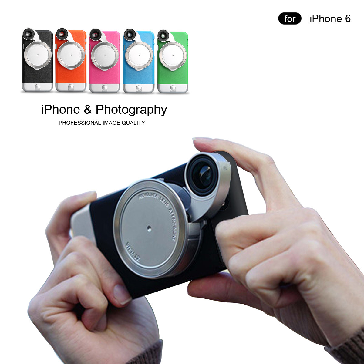 [Hot Item] Mobile Phone Smartphone Lens Photograph Stereo Vision Camera  Lens Back Cover Case for iPhone 6 6s 6 Plus