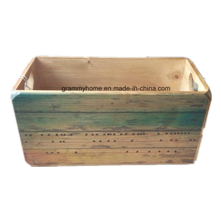 Hot Item Vintage Retro Wooden Storage Crates Sandbeach Design Farm Wood Box