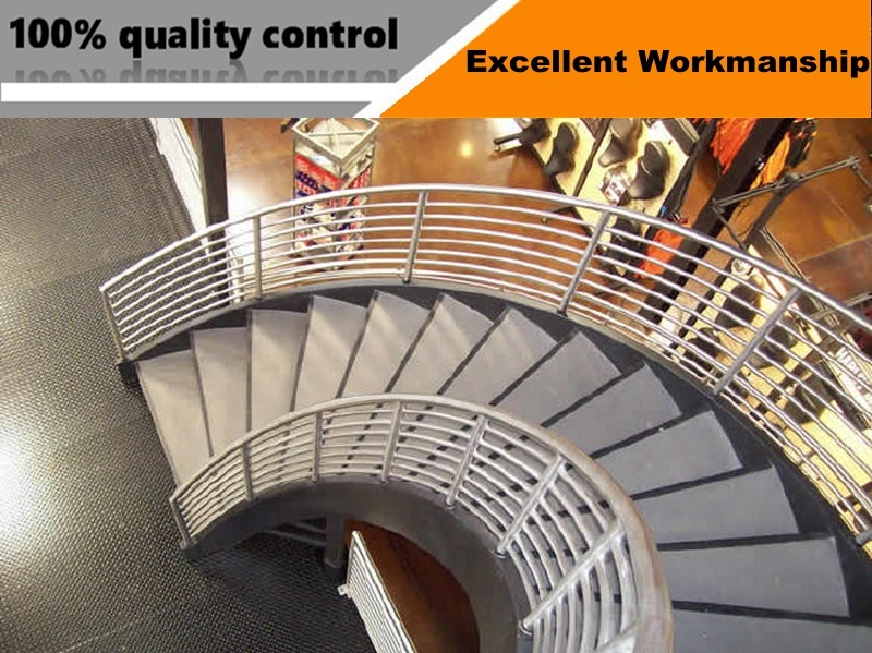 Modern Design Steel Glass Stair Railing Spiral Staircase Design