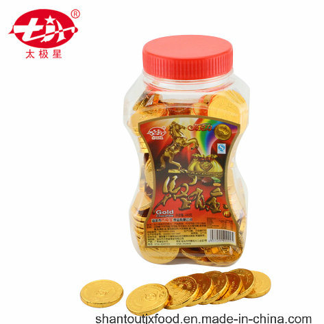 Plastic Bottle Gold Coin Chocolate