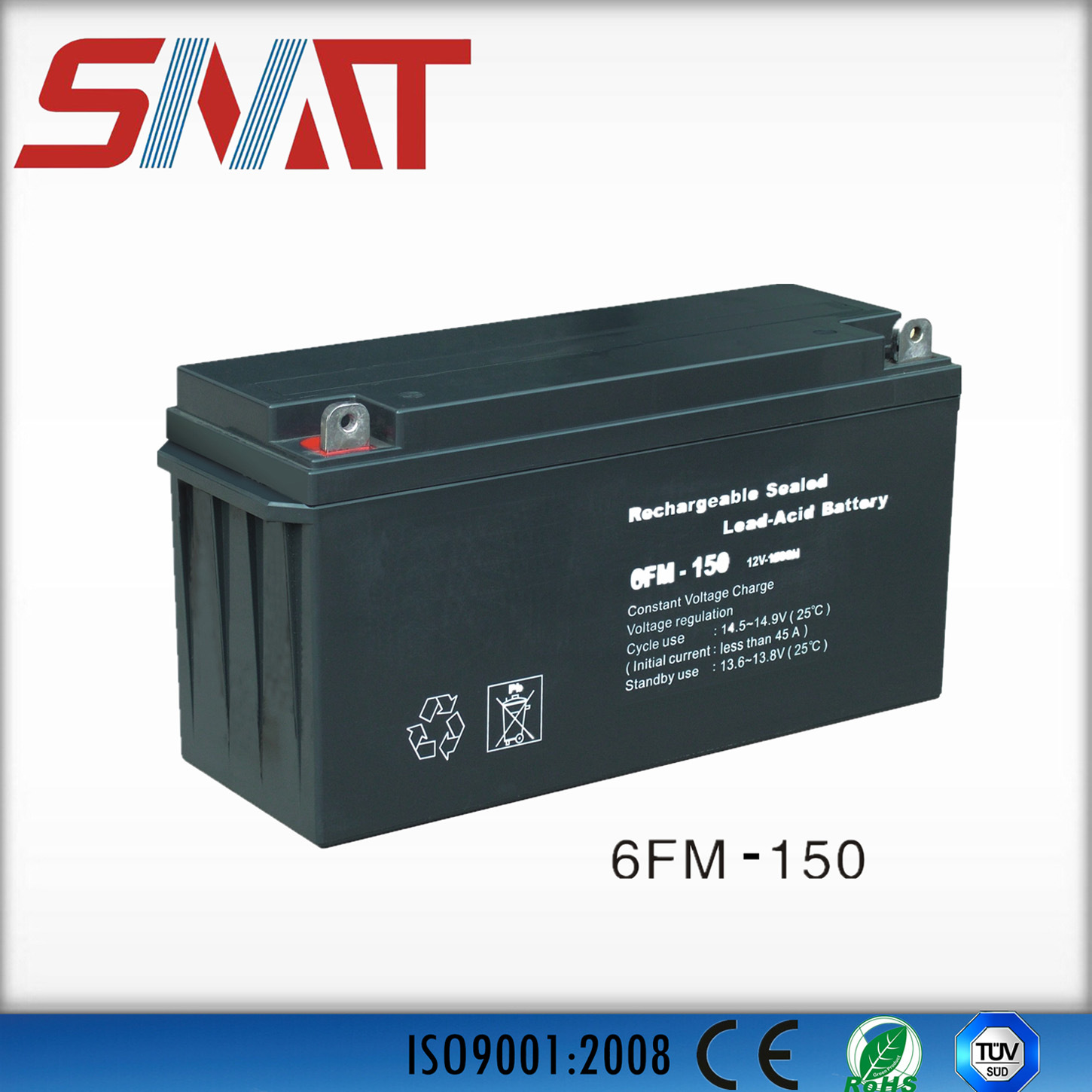China 150ah Lead Acid Battery For Emergency Charger 12v Voltage Regulated
