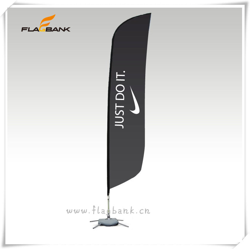 China Tradeshow Aluminium Custom Outdoor Feather Flags