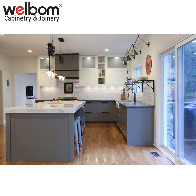Hot Item Hot Sell Gray Paint Shaker Kitchen Cabinet