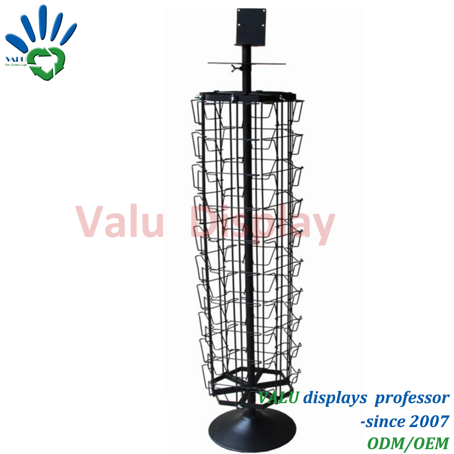 China 4 Side Metal Spinning Wire Greeting Card Display Rack Shelving