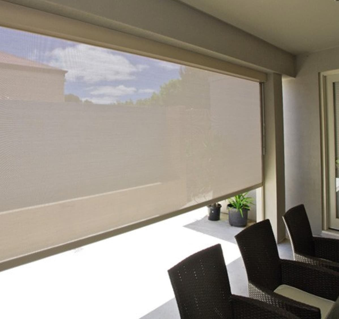 China External Automatic Zip Track Custom Made Electric Window Blind Black Roller Blinds Photos Pictures Made In China Com