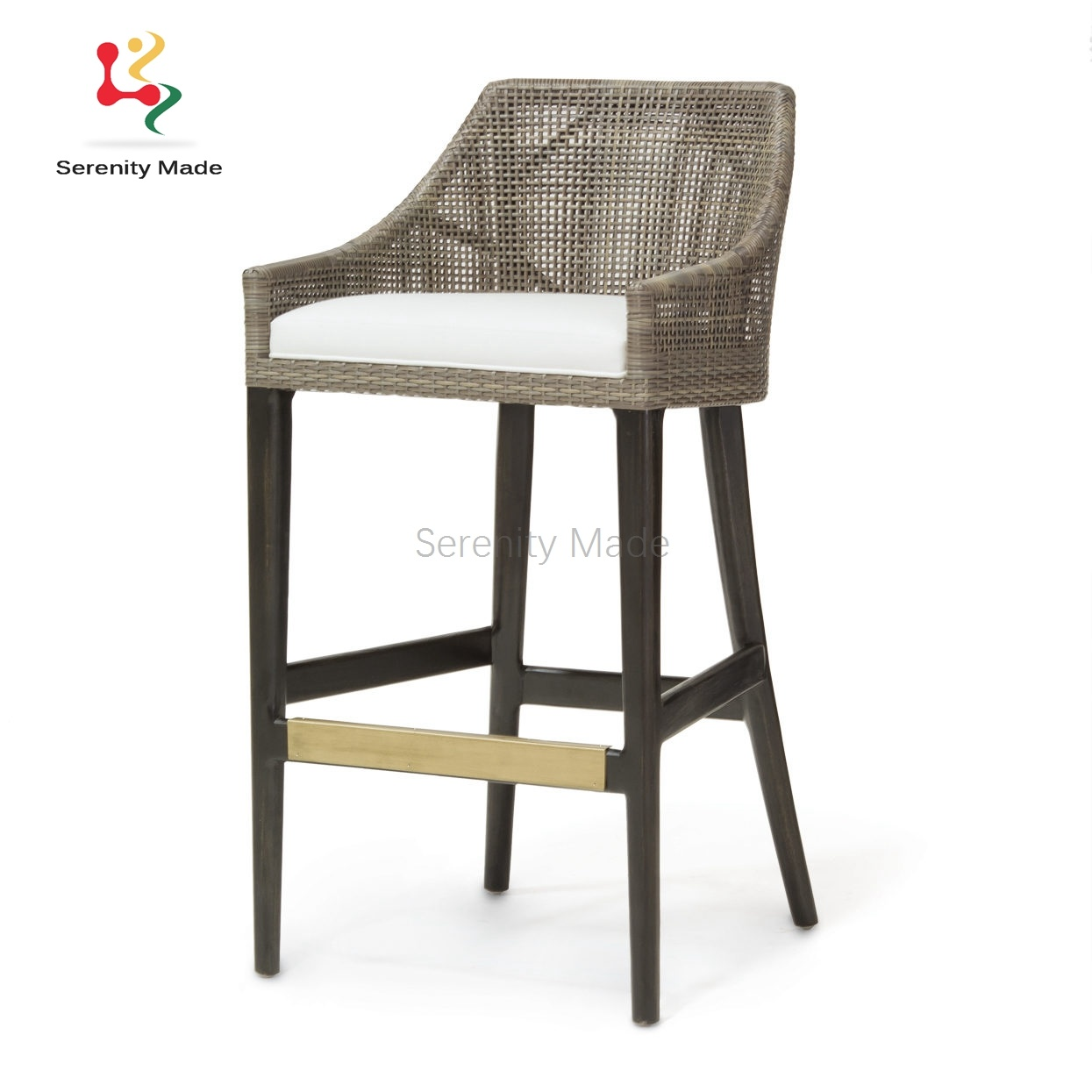 China Aluminum Frame Synthetic Rattan Woven Counter Height Outdoor