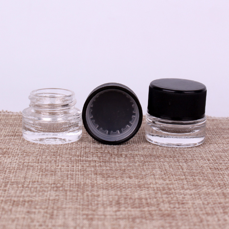 10ml Glass Brightening Eye Cream Jar Black Child-Resistant Cap pictures & photos
