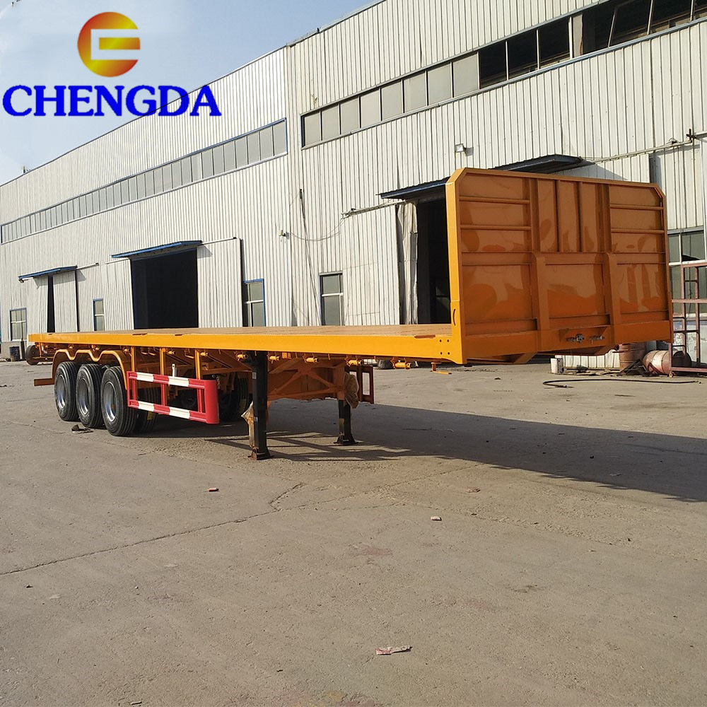 Flatbed For Sale >> Hot Item 2019 Hot Sale Tri Axle Flatbed Semi Trailer For Sale