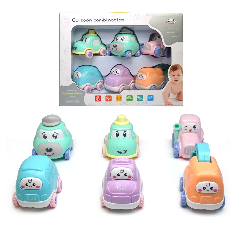 China Wholesale High Quality Plastic Cartoon Car With Blocks Small