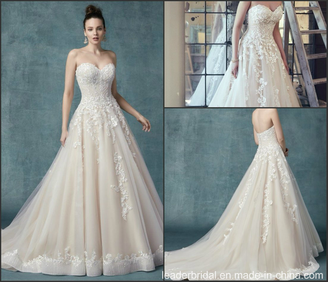393cda95dc Sweetheart Lace And Tulle Wedding Dress - raveitsafe