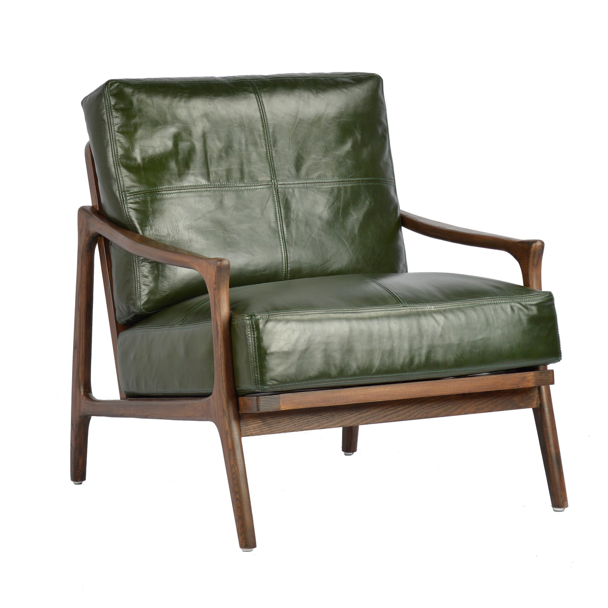 [Hot Item] Modern Green Leather Armchair