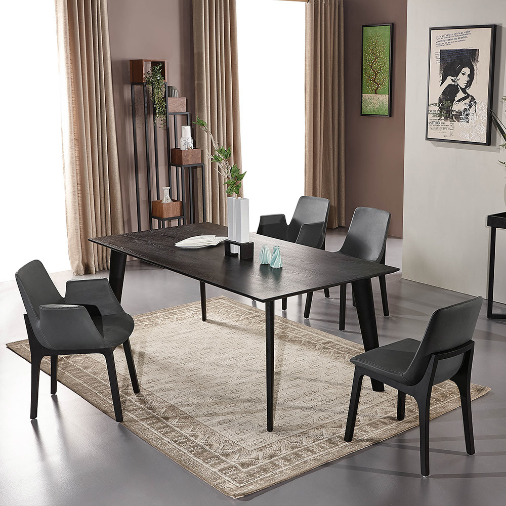 China Elegant Black Painting Simple, Black Painted Dining Room Table