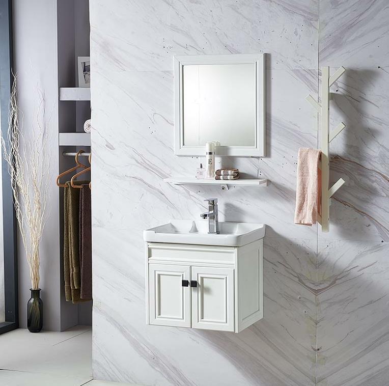 Hot Item Modern Bathroom Mirror Cabinet Bathroom Vanity With Basin Sanitary Ware Basin Washroom