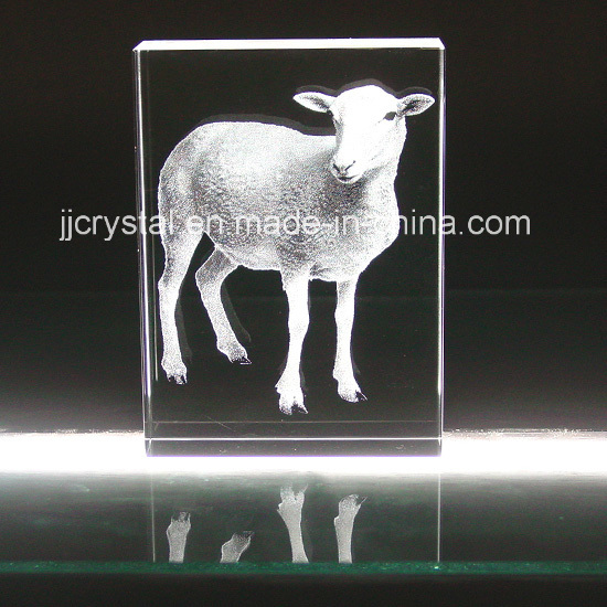 3D Inner Engraved Crystal, Glass Animal for Table Decoration