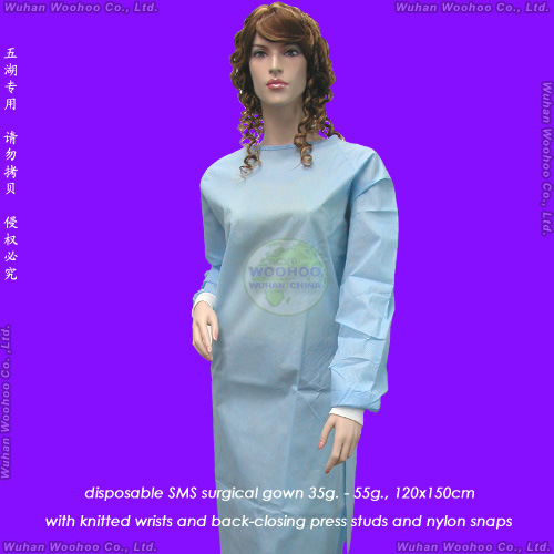 China Disposable PP Surgeon Gown - China Surgical Gown, PP Surgical Gown