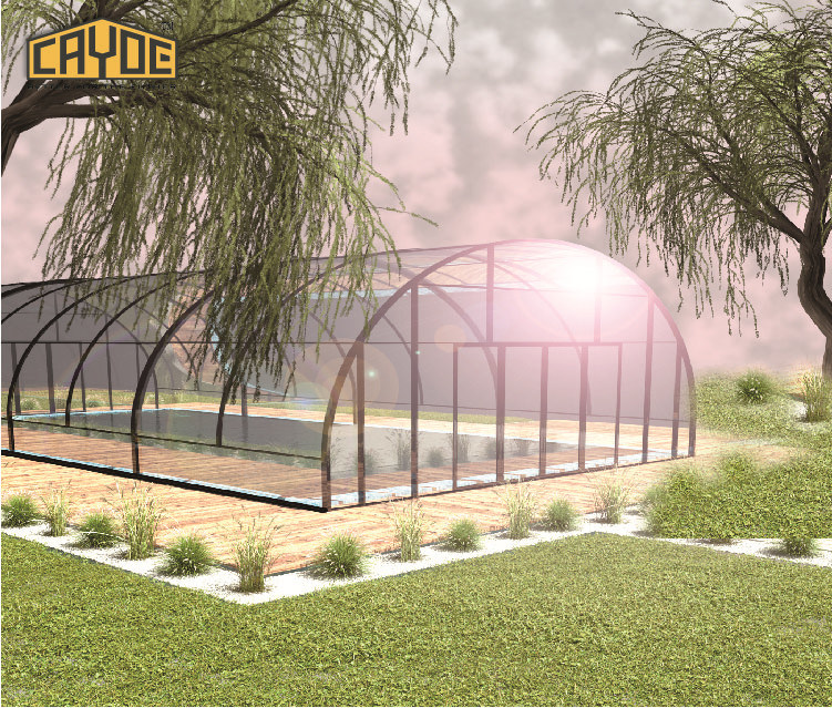 [Hot Item] Chinese Wholesale Suppliers Polycarbonate Retractable Swimming  Pool Roof / Pool Shelter
