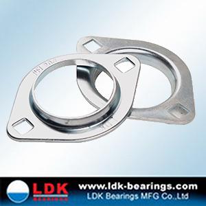 "SAPFL206-20 High Quality 1-1//4/"" Eccentric Pressed Steel 2-Bolt Flange Bearing"