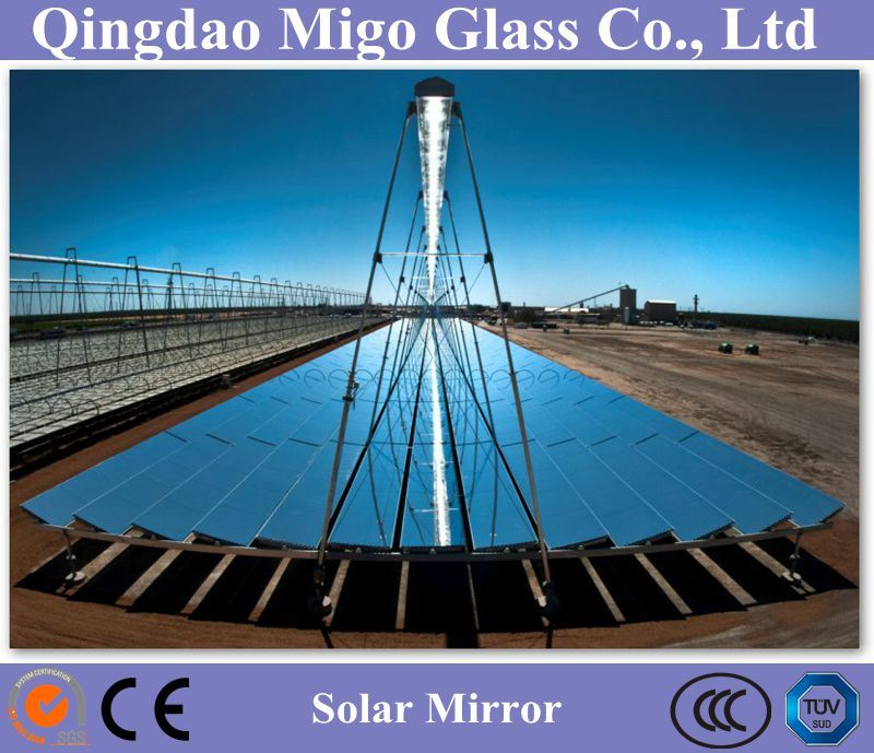China Flat Solar Mirror Used For Linear Fresnel Solar Power Station China Solar Mirror Low Iron Mirror
