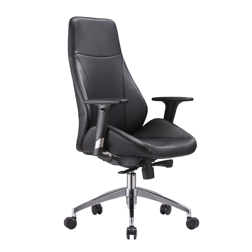 China New Black White Leather Chair For Home Office Use China Comfortable Synthetic Leather Chair Genuine Leather Director Chair