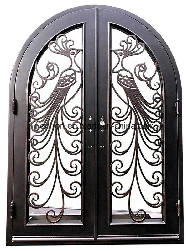 China Custom Fancy Hand Made Beautiful Iron Safety Door ...
