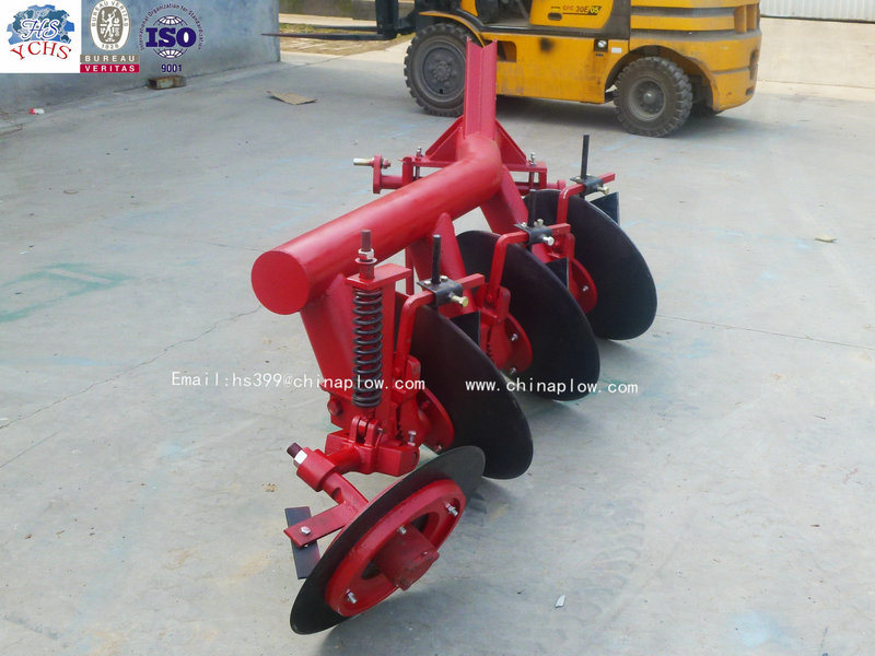 Tractor Mounted One Way Pipe Disc Plough Implement for Sale