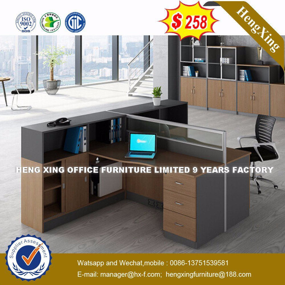 China European Design Melemine Wood Furniture Office Parion Workstation Hx 8n2624 Table Desk