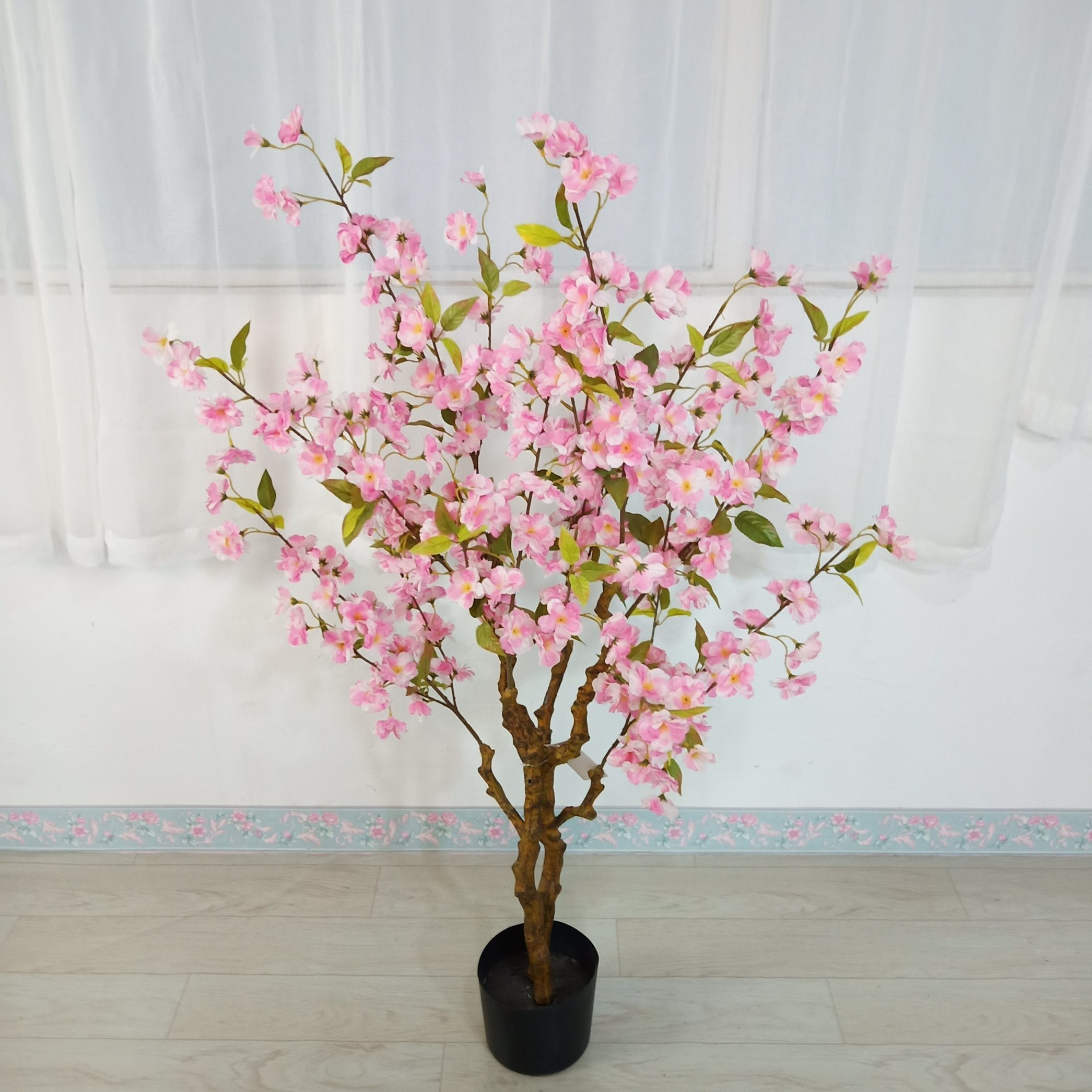 China Factory Outlet Decorative Silk Cherry Blossom Tree