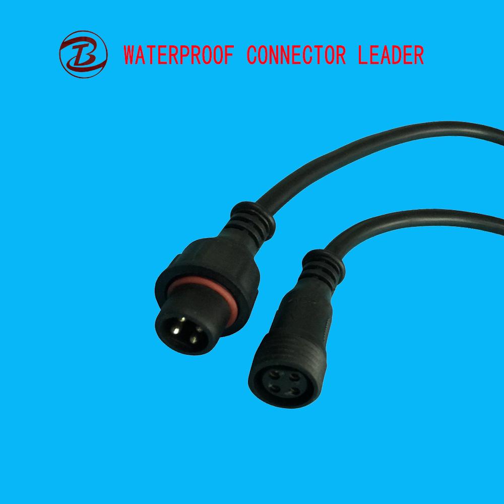 China White Wire Length 40cm LED 2 Pin 3 Pin Waterproof Plug - China ...