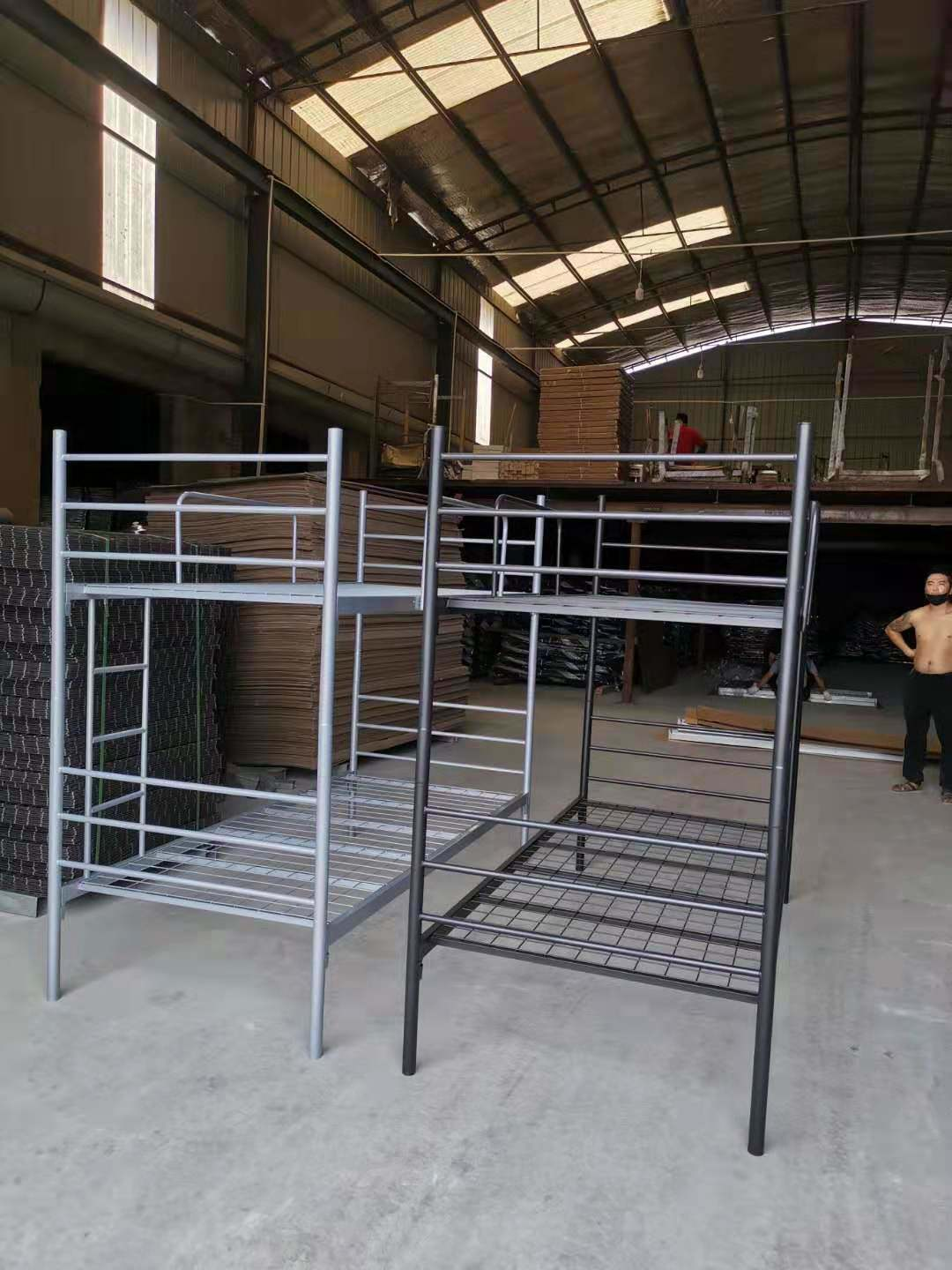Picture of: China Supplier Metal Double Decker Metal Steel Pipe Bunk Bed Price China Metal Bunk Beds Heavy Duty Bed