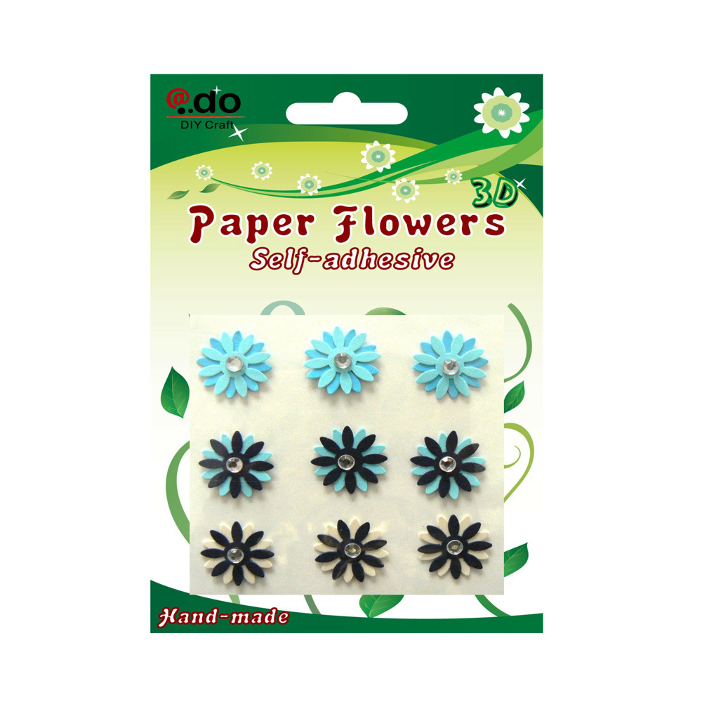 China self adhesive paper flower sticker for card making fb 03 china stickers paper flower