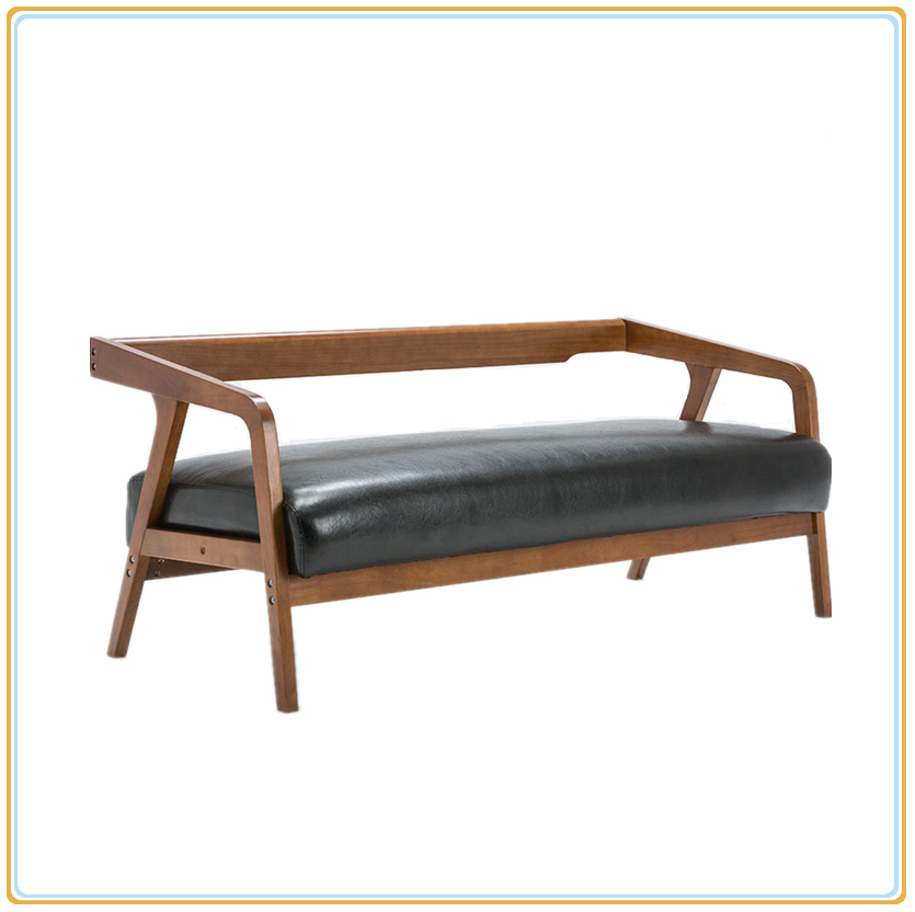 [Hot Item] Best-Selling Factory Supply Wood Sofa Set with Waxy Faux Leather