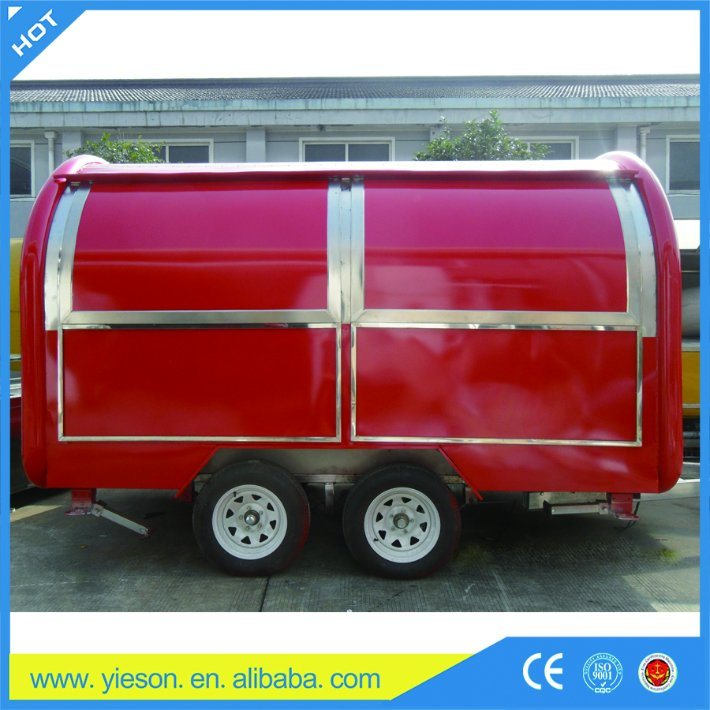 China OEM and ODM Accept Mobile Fast Food Kiosk Design for